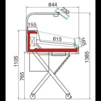 Koeltoonbank Met Glasopbouw | Self Service | Stekkerklaar | 126,2x84x(H)90,5cm