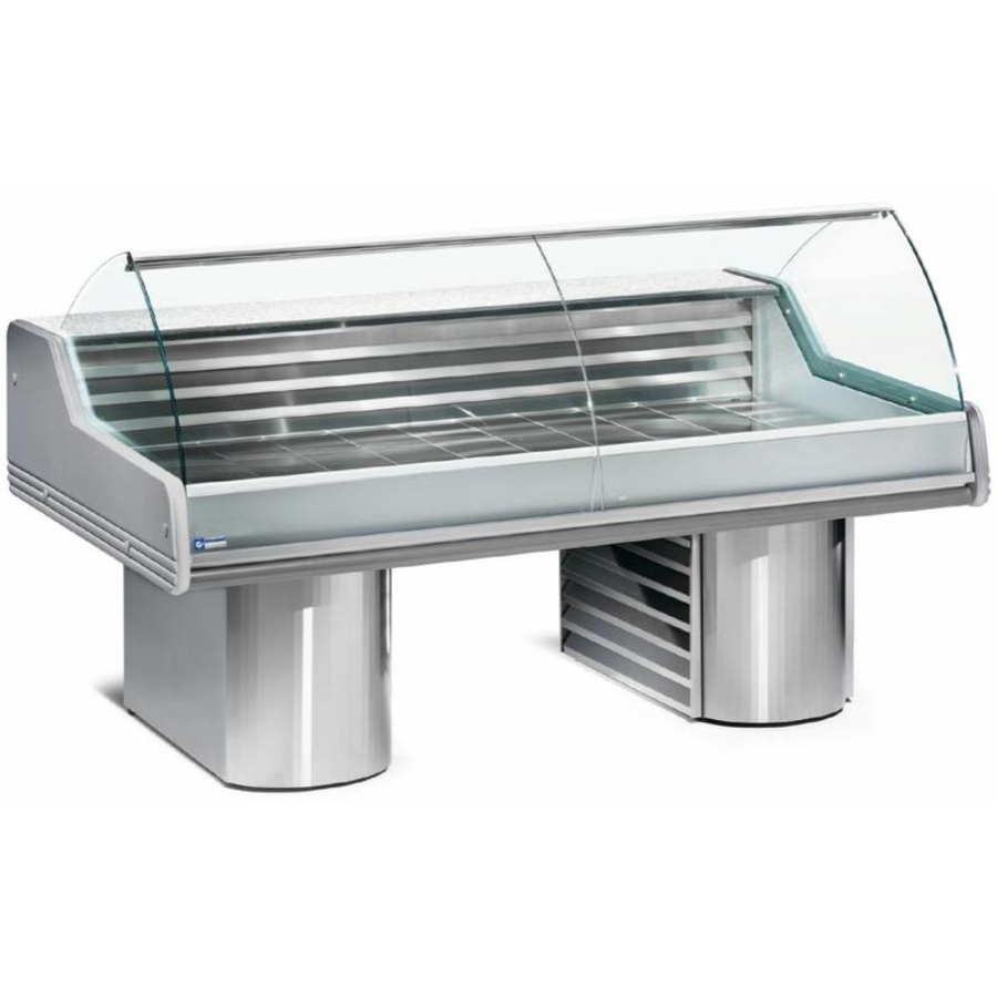 Showcase Fish Counter | Granite worktop Cooled 0 / +2 ºC | 150 x 119.5 x (h) 117.5 cm