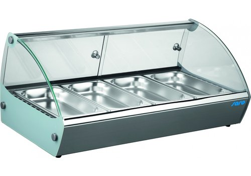 Saro Keeping display case 6x 1/3 GN | Stainless steel