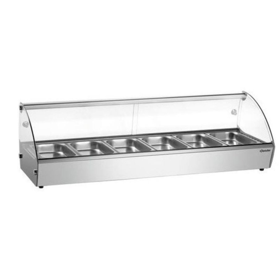 Keeping display case 1135x420x335 (h) mm | 6x 1/3 GN