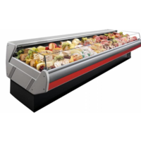 Self-service refrigerated counter | Marble Worktop DALLAS / 3 VC 1250 | 133x1145x (H) 89 cm