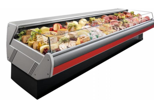 Arneg Self-service refrigerated counter | Marble Worktop DALLAS / 3 VC 1250 | 133x1145x (H) 89 cm
