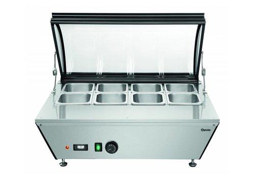 Bartscher Heating top display case 765x610x (H) 330mm   8x 1/6 GN