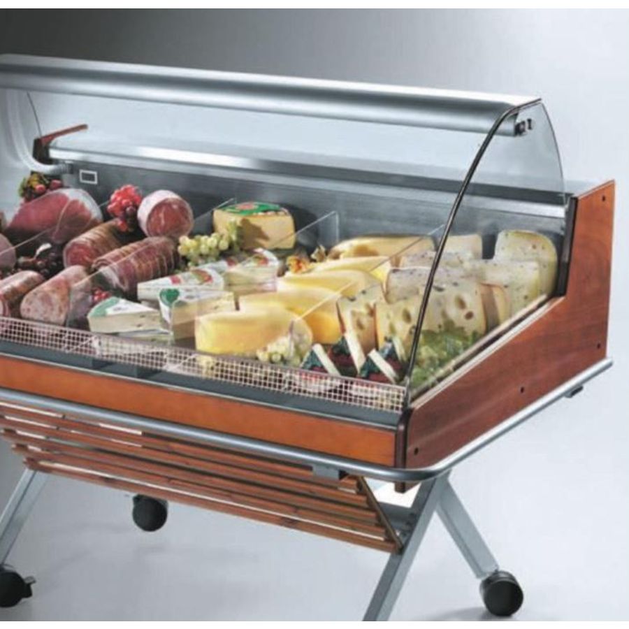 Cooling Counter With Curved Glass Structure Self Service | Ready to plug | 126.2x84x (H) 110 cm