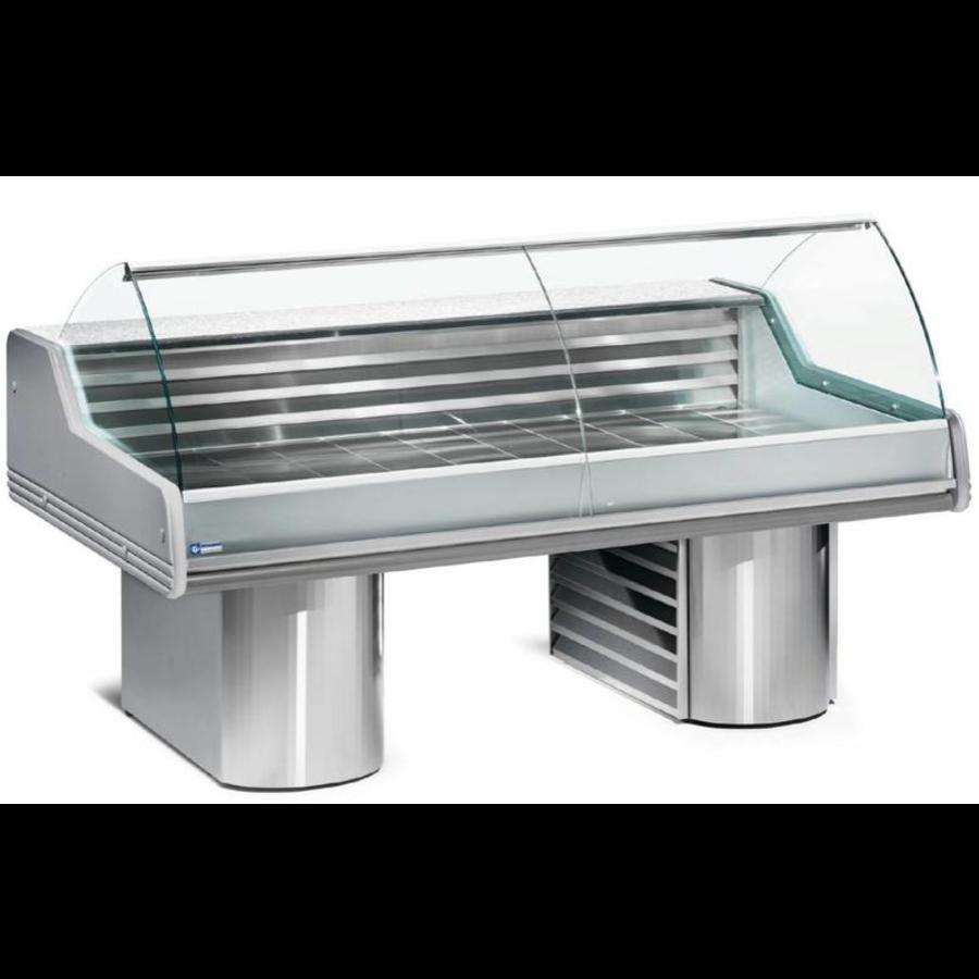 Showcase Fish Counter | Granite worktop Cooled 0 / +2 ºC | 200 x 119.5 x (h) 117.5 cm