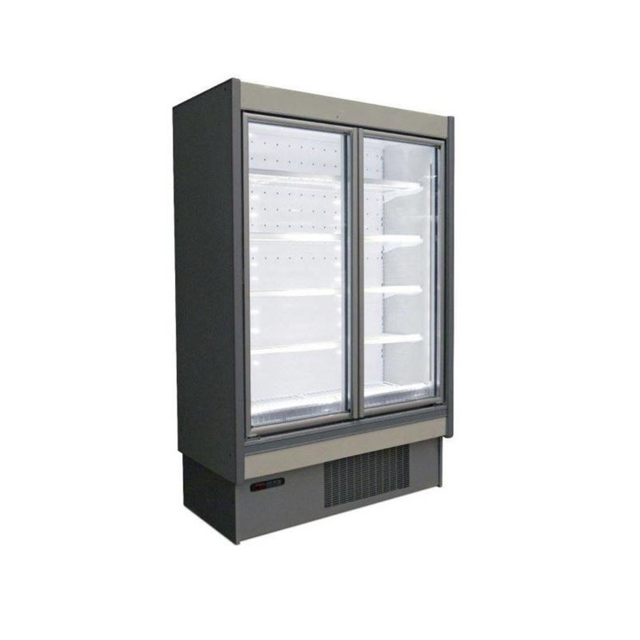 Wall freezer White Aluminum Hinged glass doors | Ready to plug (2 formats)