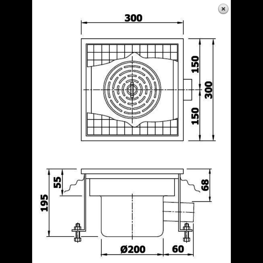 Vloerput | 300 mm