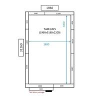 Gefrierzelle Edelstahlboden | 196 x 316 x 220 cm