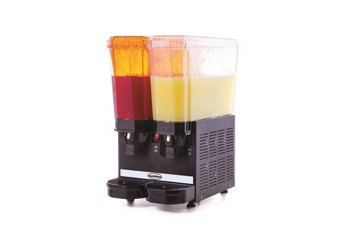 Combisteel Beverage dispenser 2x20L | Black