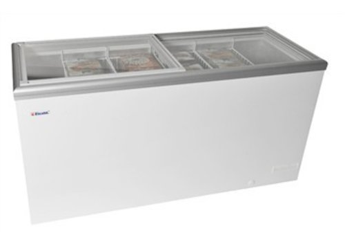 Elcold Chest freezer with glass sliding cover - LUXURY SERIES