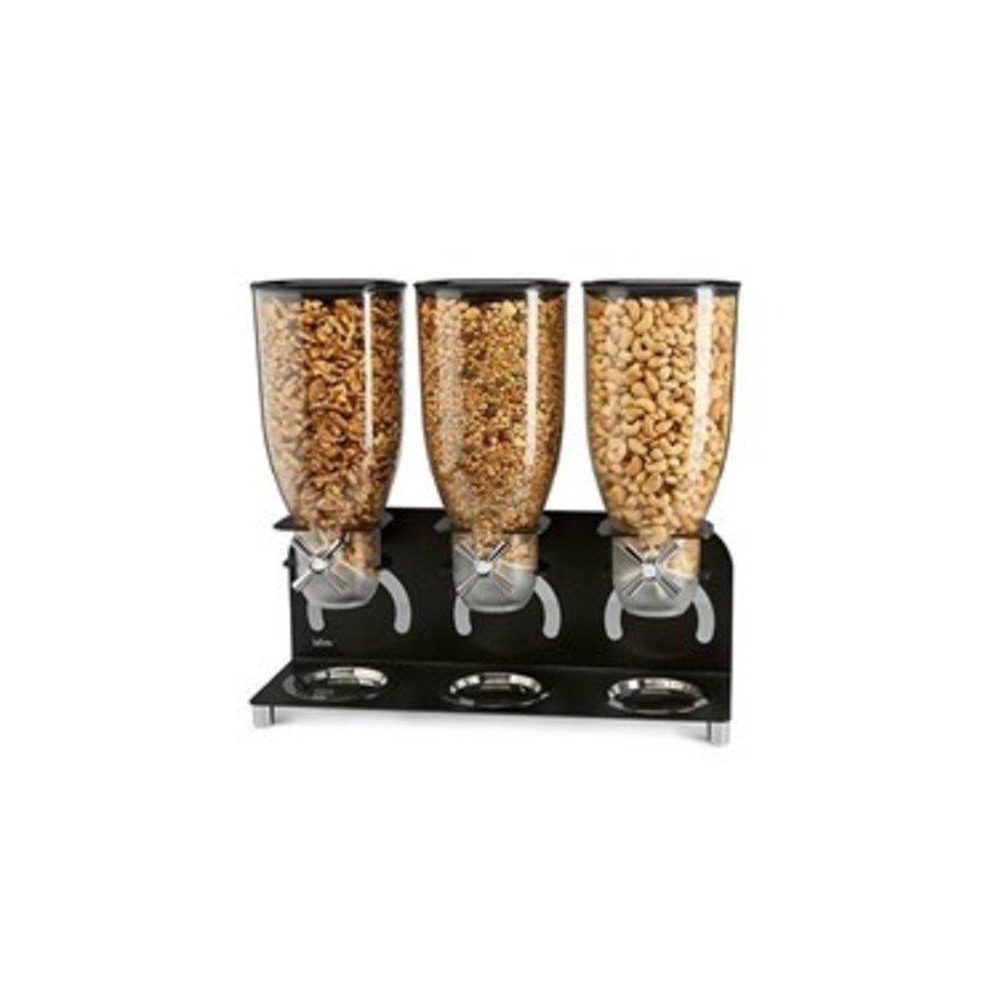 Breakfast cereal dispenser 3 x 3.5 liters | Detached