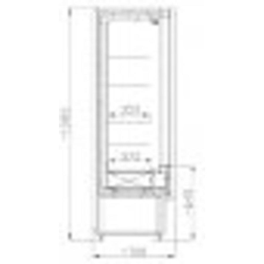 Wandkoeling 4 Etages   +1/+10°C   1480W   2010x700x1985(h)mm