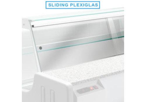 Diamond Cover plate for refrigerated counter | 200 cm | Plexiglass