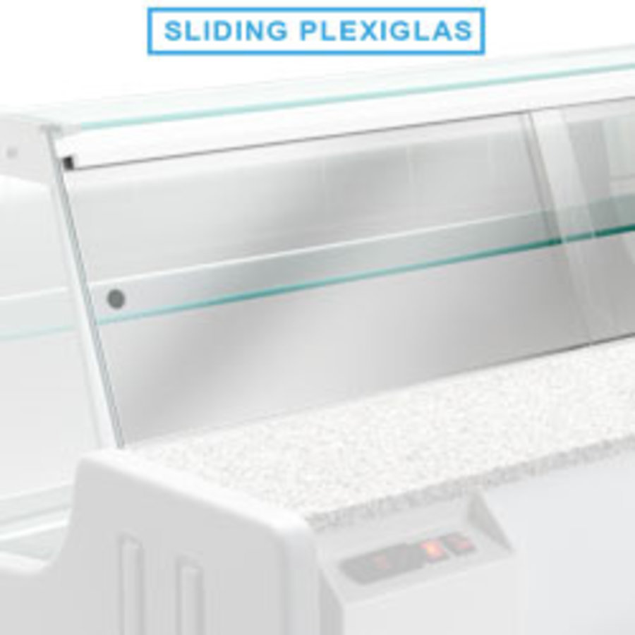 Cover plate for refrigerated counter | 200 cm | Plexiglass