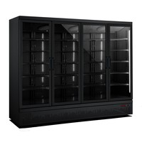 Refrigerator 4 Glass doors | 2025 liters | Stainless steel Black inside + outside