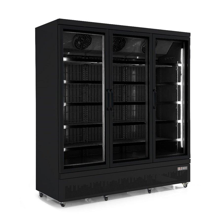 Gefrierschrank 3 Glastüren | 1450 Liter | Rostfreier Stahl Innen und außen schwarz