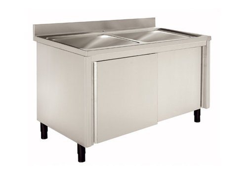 Sofinor Sink with base cabinet Stainless steel 120 (1) x60 (b) x90 (h) cm