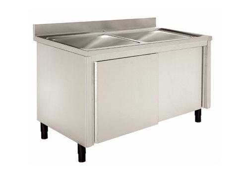 Sofinor Waschbecken mit Unterschrank Rostfreier Stahl 120 (1) x 60 (b) x 90 (h) cm