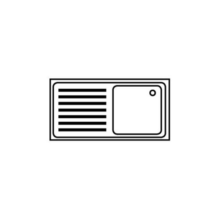 Waschbecken mit Unterschrank Rostfreier Stahl 120 (1) x 60 (b) x 90 (h) cm
