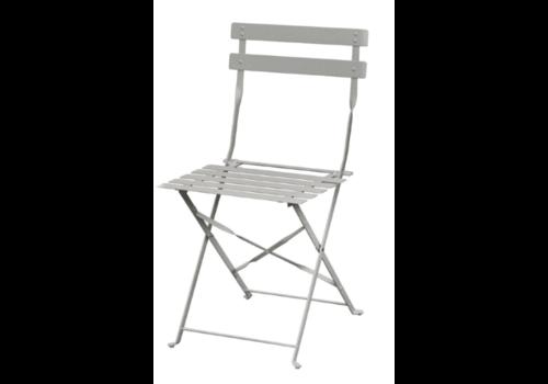 Bolero Stahlstühle grau   2 Stück