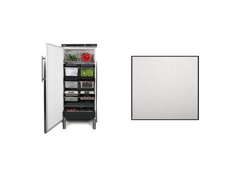 Rieber Lager Kühlschrank, Edelstahl 583 Liter | Geeignet für 1 / 1GN | 75 x 75 x (H) 186,4 / 192,5 cm | Linke oder rechte Tür