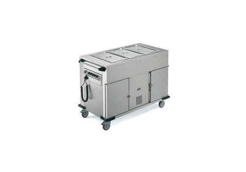 Rieber Food transport trolley Heated Cabinet / Cooled Cabinet Extra warming trays Above | 131.4x68x (H) 90 cm