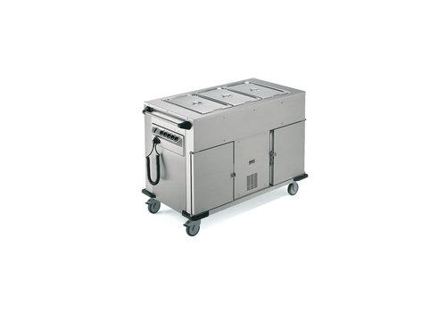 Rieber Speisentransportwagen Beheizter / gekühlter Schrank Zusätzliche Wärmeschalen Oben | 131,4 x 68 x (H) 90 cm