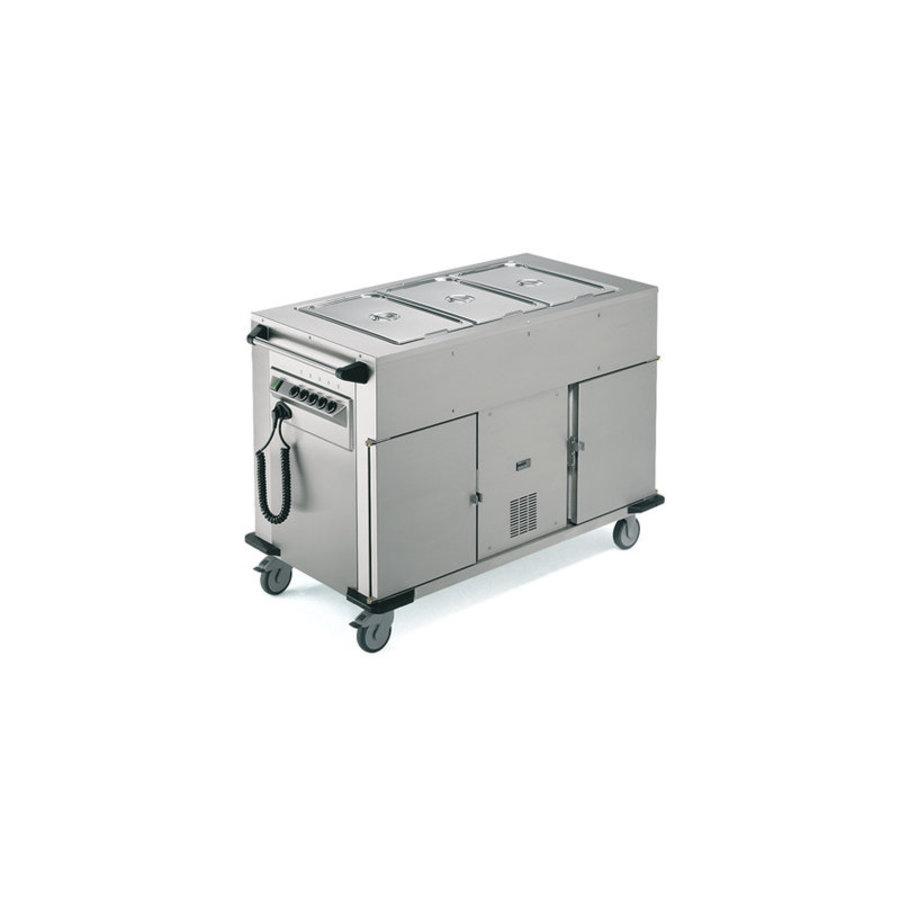 Speisentransportwagen Beheizter / gekühlter Schrank Zusätzliche Wärmeschalen Oben   131,4 x 68 x (H) 90 cm
