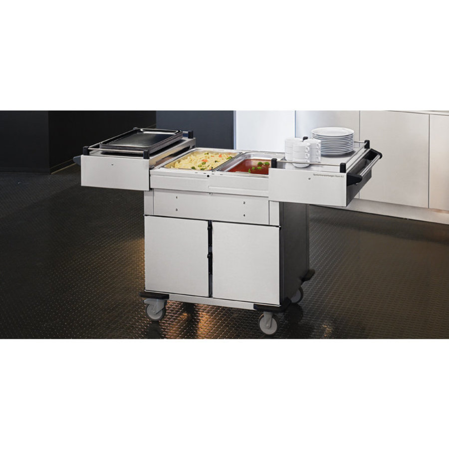 Food transport trolley Heated Cabinet / Cooled Cabinet Extra warming trays Above | 131.4x68x (H) 90 cm
