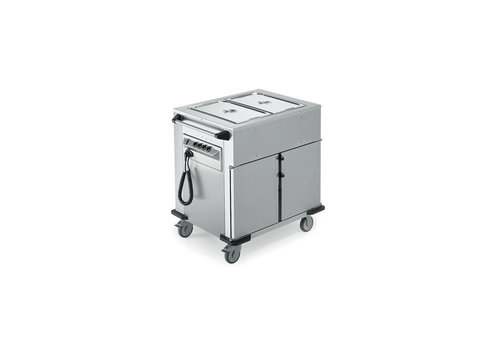 Rieber Food transport trolley Heated Cupboard | Extra warming trays upstairs