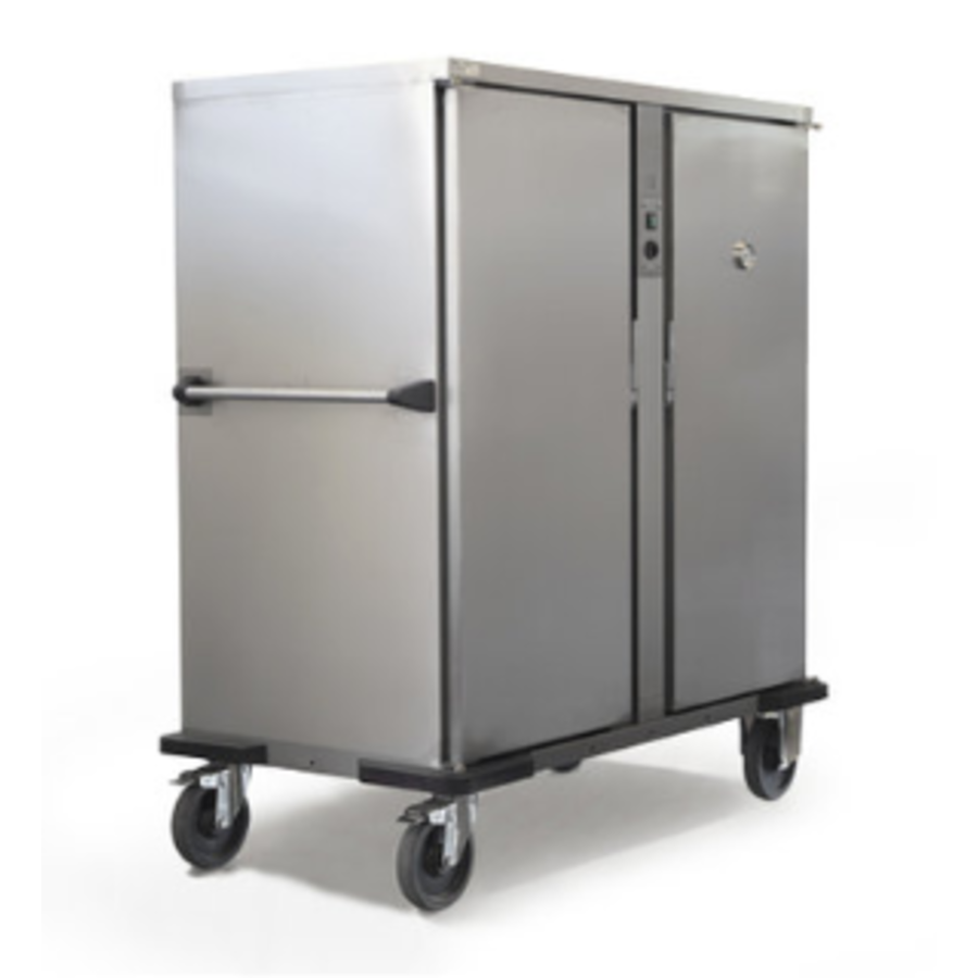 Double Banquet trolley Light 2 x 2/1 GN heated | 2400W | 149x83.7x (H) 167.4 cm | 11 or 18 GN2 / 1 Schedules