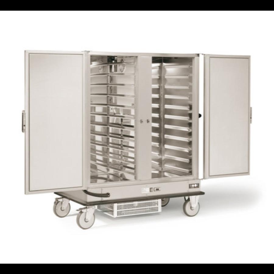 Doppelter gekühlter Bankettwagen | 2 x 2/1 GN | 600W | 1487 x 843 x (H) 1755 mm