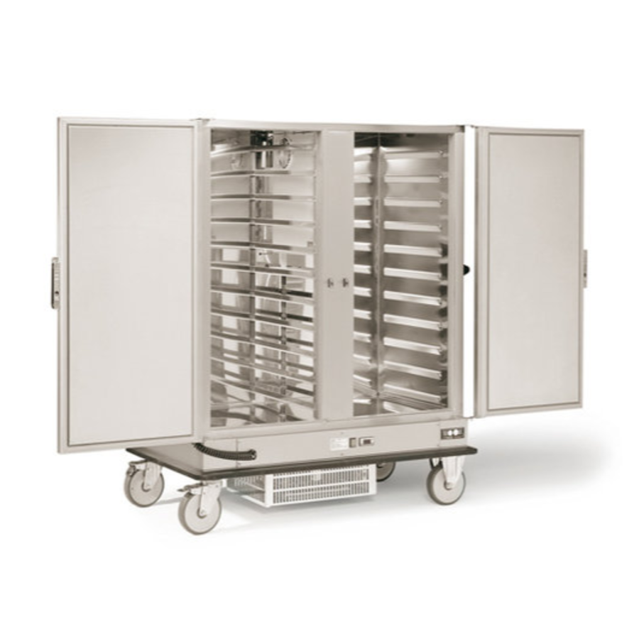 Double Refrigerated Banquet Cart | 2 x 2/1 GN | 600W | 1487x843x (H) 1755mm