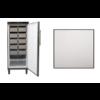 Rieber Static Freezer Stainless Steel | 513 liters | 75x76x (H) 186.4-192.5 cm