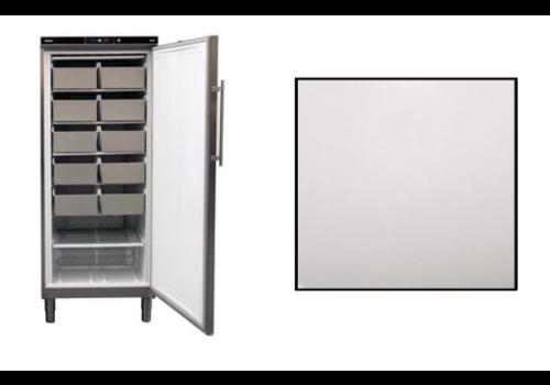 Rieber Gefrierschrank Edelstahl | 513 liter | 75 × 76 × (H) 186,4–192,5 cm