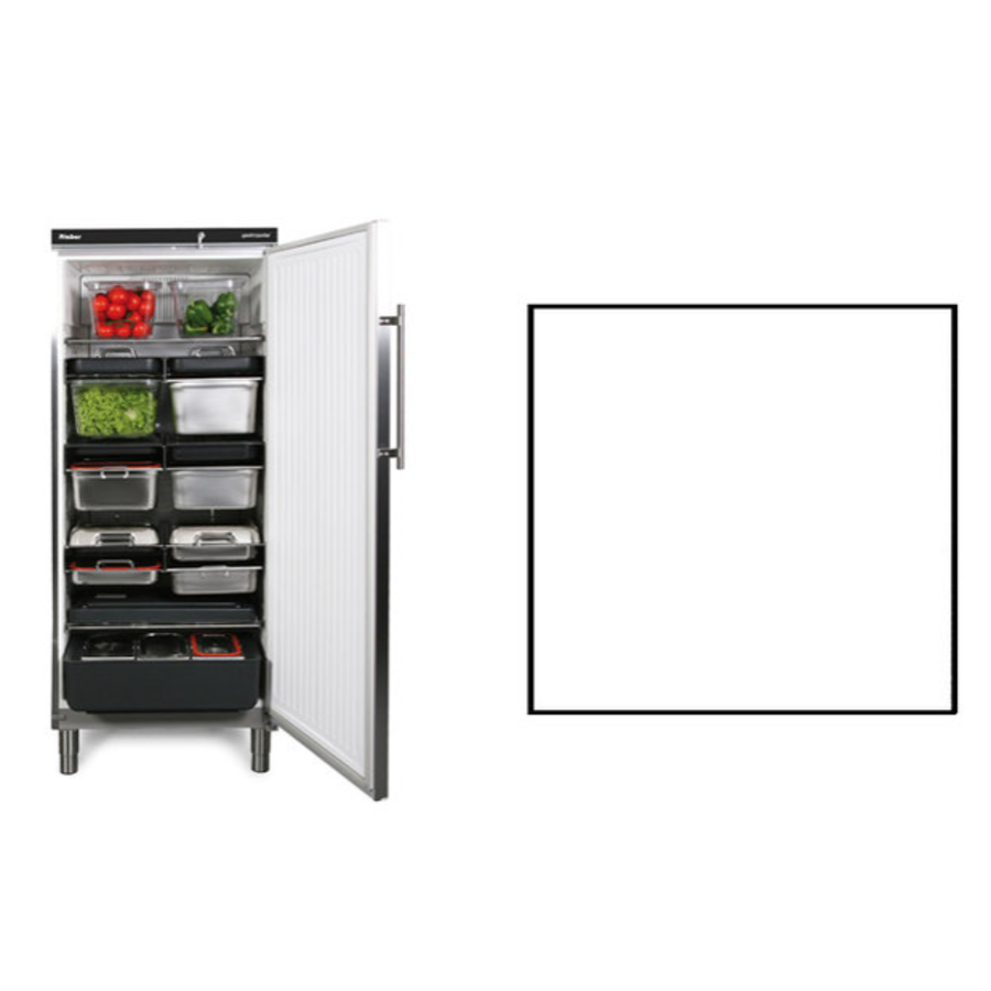 Storage fridge | White | 583 liters | Suitable for 1 / 1GN | 750x750x (H) 1864/1925 mm