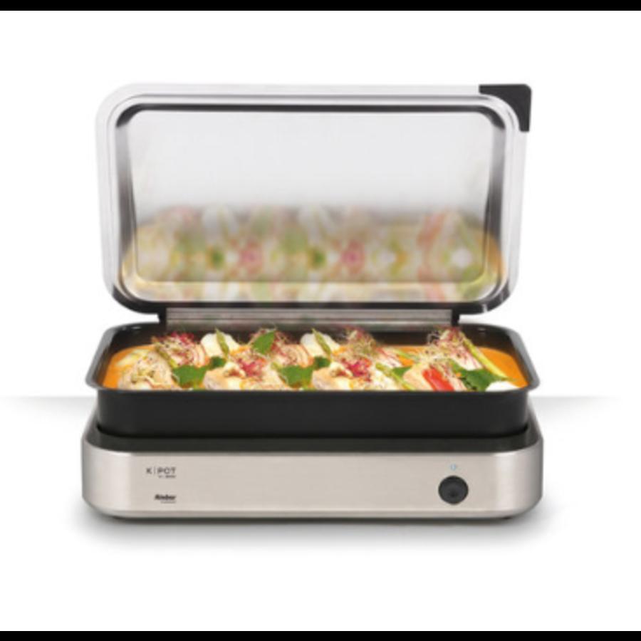 K | POT | 1 / 1GN Chafing Dish 2200W | 2 einstellbare Kochzonen | 53,3 x 38 x 8,8 cm | 2 farben