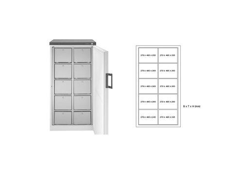 Rieber Gemeenschappelijke koelkast | Meerdere lades | 2 Uitvoeringen