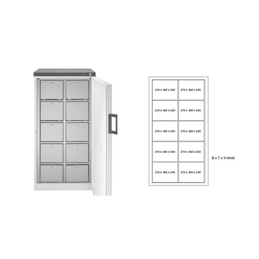 Gemeinsamer Kühlschrank Mehrere Schubladen 2 Versionen
