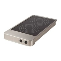 Varithek Induction hob | 3600W | 1 / 1GN | 2 hot plates 32.5 x 64 x (h) 18 cm