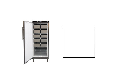 Rieber Static Freezer | Stainless steel 513 liters | 750 x 760 x (h) 1864 - 1925 mm