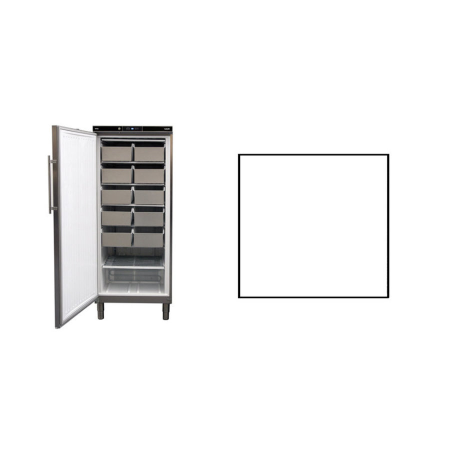Static Freezer | Stainless steel 513 liters | 750 x 760 x (h) 1864 - 1925 mm