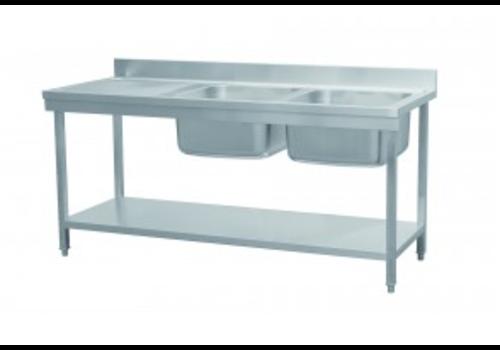 Combisteel Sink table Bottom shelf   180x70x90 cm   65 KG