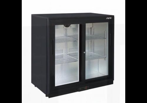 Saro Bar Kühlschrank | 2 Türen | Schwarz | 85 cm (h)
