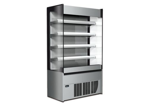 HorecaTraders Wandkühlgerät Edelstahlausführung - Automatische Abtauung - 1170 x 580 x h2005 mm