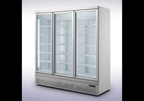 Combisteel Koelkast 3 Glas Deuren |188x71x199,7(h) cm