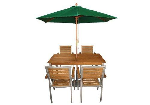 Bolero Sonnenschirm grün | Ø 2,5 Meter