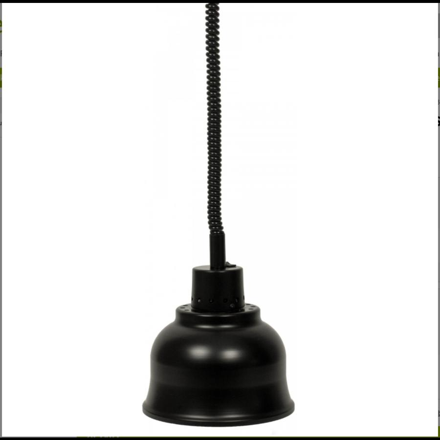 Warmhalten Lampe | Leichtmetall schwarz | (Ø 125 mm) Curtis-Modell