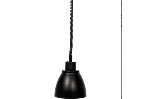 Saro Warmhoudlamp | licht metaal zwart | (Ø 125 mm) | Model Francis