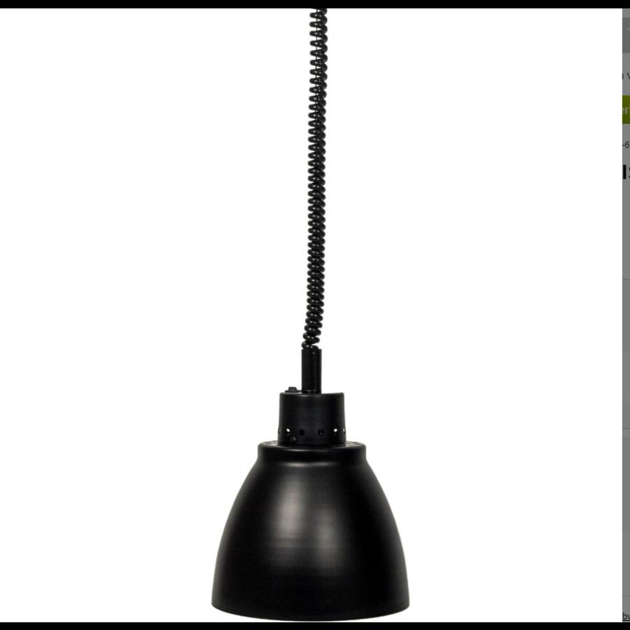 Warmhoudlamp | licht metaal zwart | (Ø 125 mm) | Model Francis